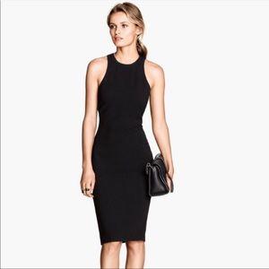 H&M Black Racerback Bodycon Dress